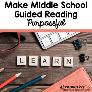 Keeping middle school students engaged during reading can be challenging. This blog post provides several suggestions on how to increase engagement during guided reading from the 2 Peas and Dog blog.