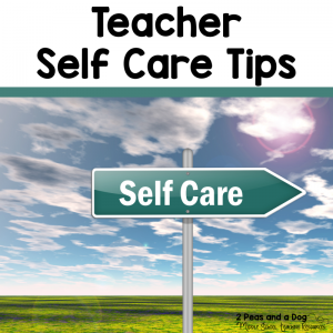 It is important for teachers to realize that self-care is important. Check out these teacher self-care tips from 2 Peas and a Dog.
