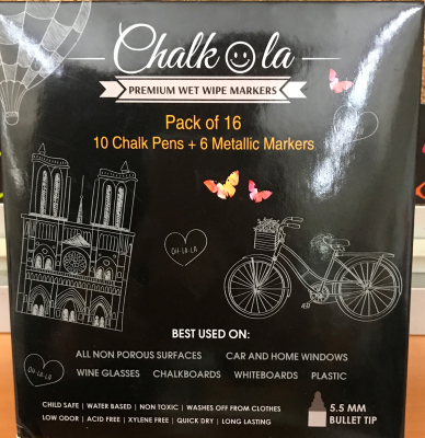 Chalkola marker review by 2 Peas and a Dog.