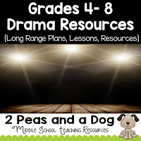 Drama lessons, plans and resources for Grades 4 to 8 teachers from the 2 Peas and a Dog blog.