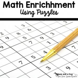 Math Enrichment Freebies – KenKen Puzzles