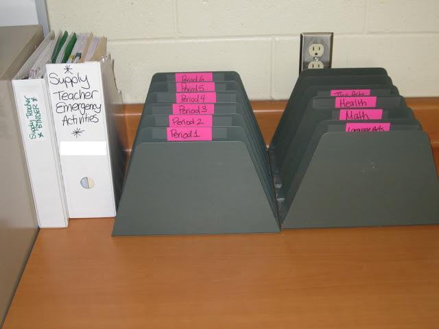 Quick middle school classroom organization tips and ideas from the 2 Peas and a Dog blog.