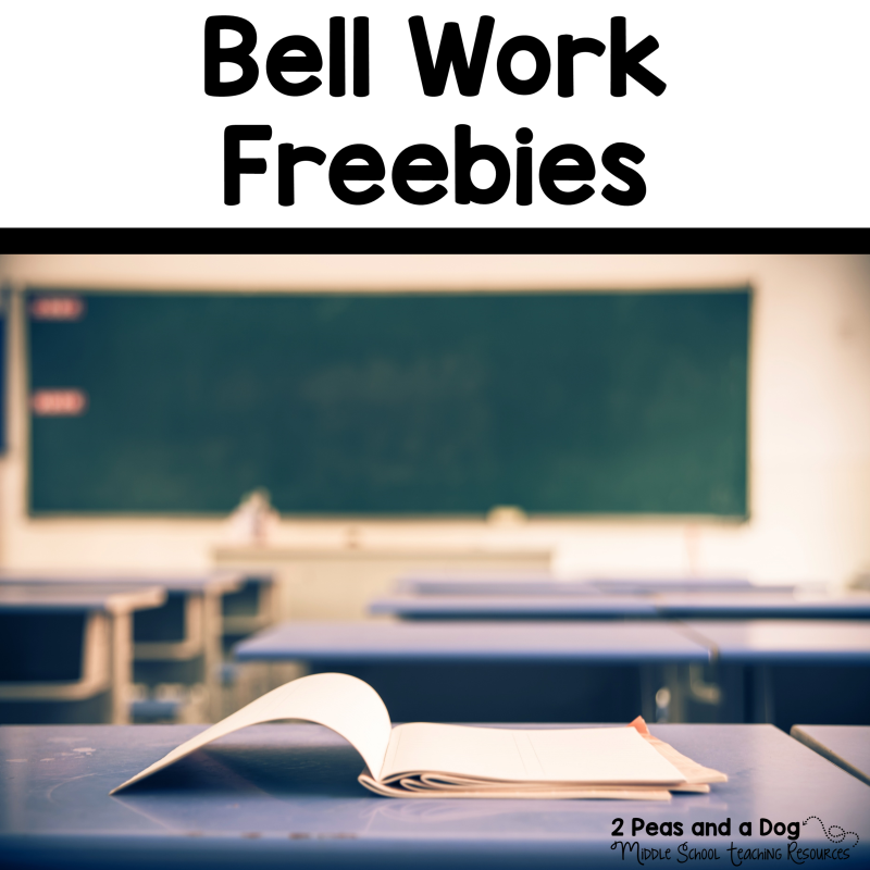 Bell Work Freebies - 2 Peas and a Dog