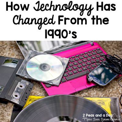 Great Back to School Activity! Watch these 2 great technology videos with your students and brainstorm how life has changed since the 90's.