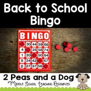 Free: Back to School Bingo Ice Breaker Game