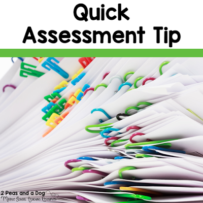 Formative assessments should have a quick turn around time, to provide students with their next steps. Try this quick method for assessing formative assessments