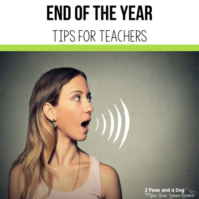 End of the year activity ideas from experienced teachers. Read how you can make your end of the year finish great from the 2 Peas and a Dog blog.