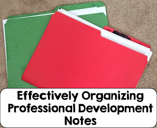 Organizing professional development notes can be a time consuming task. Use the tips from this article to help develop a teacher professional development system that works for your learning style from the 2 Peas and a Dog blog.