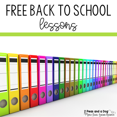 5 free back to school lessons from 2 Peas and a Dog. #freebies #lessonplans #ela #teaching