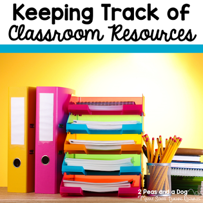 Teachers - stop loosing your classroom resources. Try this classroom organization tip to clearly identify your resources from the 2 Peas and a Dog blog.