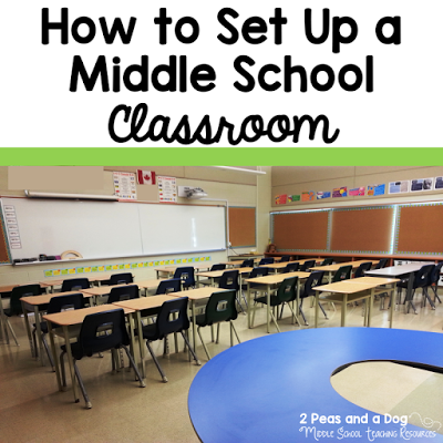 Fantastic ideas for setting up a middle school classroom. Ideas are easy to implement and to keep going all year long from the 2 Peas and a Dog blog.
