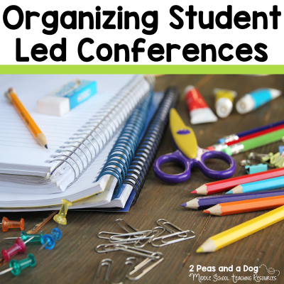 Student Led Conferences are a good way to have students take on more ownership of their learning, and share this learning with their parents, guardians and teachers. Learn more on the 2 Peas and a Dog blog. #studentledconferences #parentteacherconferences #studentwork #lessonplans #teaching