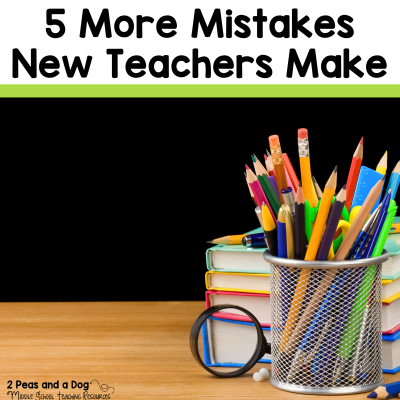 In this informative blog post about 5 More Mistakes New Teachers Make, new teachers are provided with five essential tips for being successful in their first year. Experienced teachers read this post to see how you can best support the new teachers in your schools from the 2 Peas and a Dog blog. #newteachers #teachers #education
