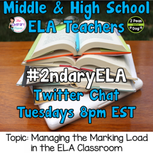Managing the Marking Load in ELA Twitter Chat
