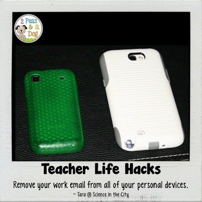 Teacher Life Hack - Teachers develop a better and more manageable work-life balance by removing your work email from all of your personal devices.