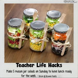 Teacher Life Hack Mason Jar Salads