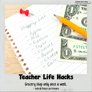 Teacher Life Hacks Grocery Shopping
