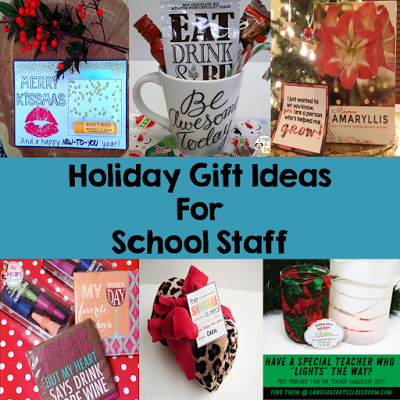 Great holiday gift ideas for teachers and other school staff.