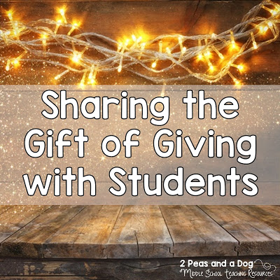 Read about fantastic ideas from real teachers about what they do in their classrooms to spread the message of giving not getting during the holiday season from the 2 Peas and a Dog blog.