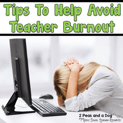 Effective and realistic strategies to help teachers survive and cope with teacher burnout from the 2 Peas and a Dog blog.