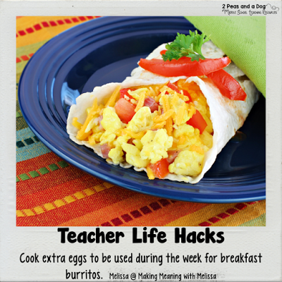 Teacher Life Hack - Teachers try breakfast burritos with batch cooked eggs to speed up your morning routine.