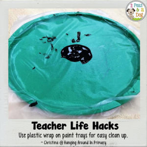 Teacher Life Hack Art Cleanup Tip