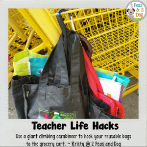 Teacher Life Hack Managing Reusable Bags
