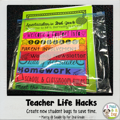 Use new student bags to save time in your classroom.