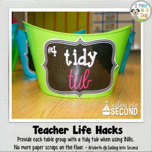 Teacher Life Hack Tidy Tubs