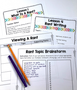 Rant writing is a great way to engage students. Get your FREE unit here.