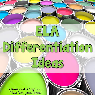 """Not every lesson in the English Language Arts classroom can take on the """"one approach suits all"""". Our learners are diverse and require that we as teachers try to meet their needs using a variety of differentiated instruction methods. Find out more on the 2 Peas and a Dog blog."""