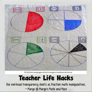 Teacher Life Hack Using Overhead Transparencies