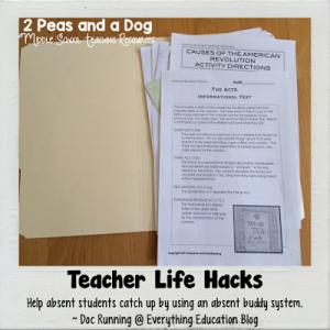 Absent Buddy System Teacher Life Hack