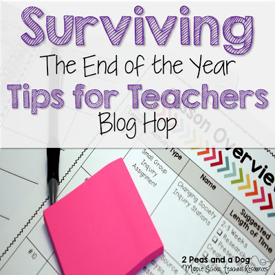 Ensure that your class runs smoothly during the end the year by incorporating these 4 important tips to calm the chaos during the countdown to summer vacation from 2 Peas and a Dog blog.