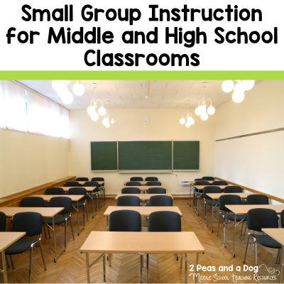 Small group instruction looks different in every classroom - sometimes it is a structured intervention program, other times it is the teacher working with a small group of students on a focused task like guided reading or writing. Several great strategies are shared on how to make small group instruction meaningful in the secondary classroom from the 2 Peas and a Dog blog.