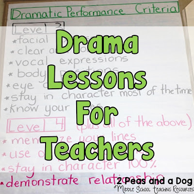 Drama lessons and ideas for teachers from the 2 Peas and a Dog blog.