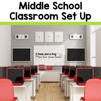 Setting up a middle school classroom can be challenging to ensure that the room looks visually appealing without looking too young for the age group. It is important that your room have enough space to accommodate middle school students. See how to set up a middle school classroom from the 2 Peas and a Dog blog.