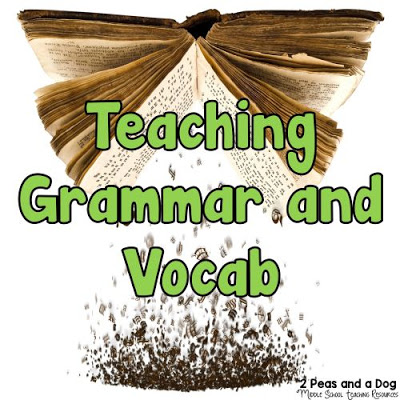 Teaching students vocabulary and grammar is an important part of any English classroom. Vocab and grammar instruction must be purposeful and meaningful to students (within context) for them to retain the lesson from the 2 Peas and a Dog blog.
