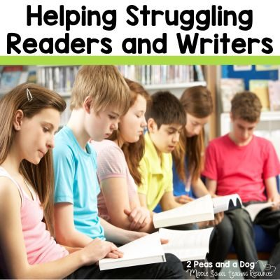 Our classrooms are diverse environments composed of students with a range of needs and abilities. As teachers, we work diligently to meet the needs of all of our learners. Discussed in this blog post are specific strategies teachers use to meet the needs of their struggling learners as well as book and resource suggestions from the 2 Peas and a Dog blog.