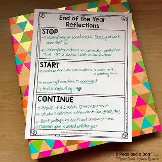 Use this FREE graphic organizer to help you reflect on your successes and challenges this year in your classroom from the 2 Peas and a Dog blog.