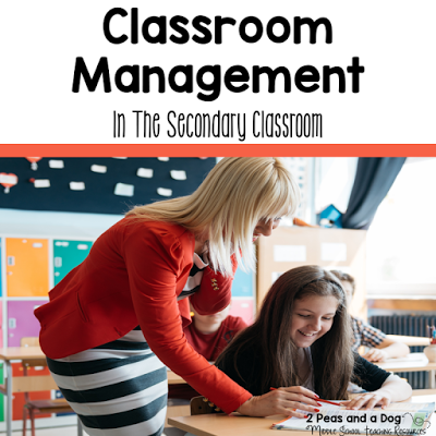 Classroom management in the middle and high school classrooms can be a challenge. Check out these great tips. #classroommanagement