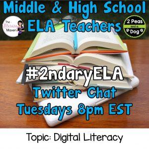 #2ndaryELA Twitter Chat on Tuesday 2/27 Topic: Digital Literacy