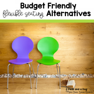 5 budget friendly flexible seating alternatives from 2 Peas and a Dog.