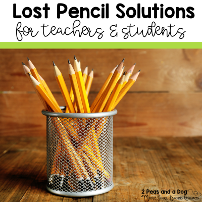 10 great ideas and solutions for solving the lost and missing pencil problem in classrooms from 2 Peas and a Dog.
