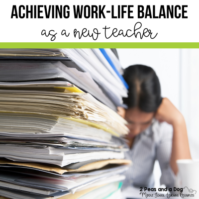 It can be difficult for new and seasoned teachers to achieve a work-life balance. Find great practical tips on how to manage school work and your home life as a new teacher from 2 Peas and a Dog.