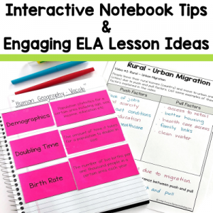 Language Arts Interactive Notebooks Tips and Tricks