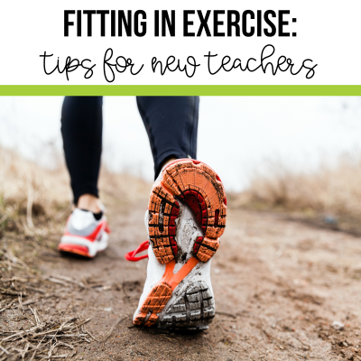 It is important for teachers to fit exercise into their day. Teacher exercise tips from 2 Peas and a Dog. #exercise #teacherfitness #fitness #fitnessgoals #healthyteacher