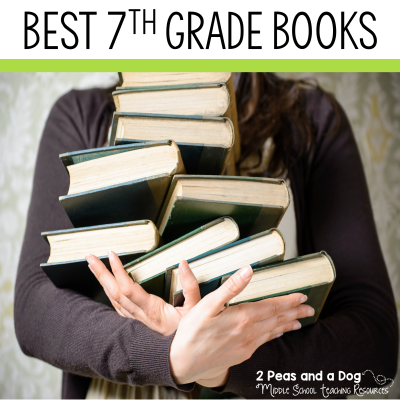 Check out these best books for 7th grade. Get students reading with these engaging book recommendations from 2 Peas and a Dog. #bookreviews #YAlit #reading #middleschool
