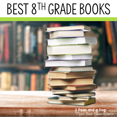 Best books for 8th grade. Excellent novels to add to your classroom library or book club collections from 2 Peas and a Dog. #YAlit #reading #middleschool #8thgrade
