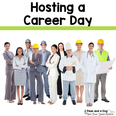 Hosting a career day is a great experiential learning opportunity for your students from 2 Peas and a Dog. #careerday #experientiallearning #education